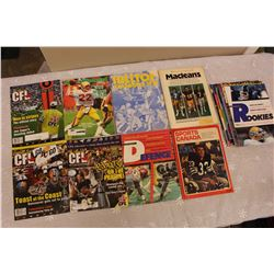 Lot of Football Related Programs, Magazines