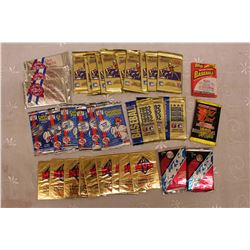 36 Unopened Packs of Baseball & Football Cards