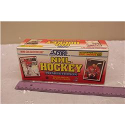 Sealed 1990 Score NHL Hockey Card Set, Premier Edition (445 Bilingual Cards)