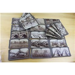 Lot of Antique Stereoscope slides (24)