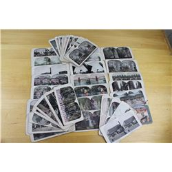 Lot of Antique Stereoscope Slides (43)