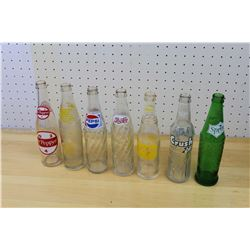 Lot of Vintage Soda Pop Bottles (7)