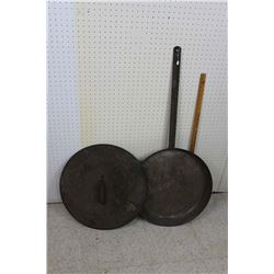 "Large 43"" Long 20.5"" Across Camp Frying Pan w/Lid"