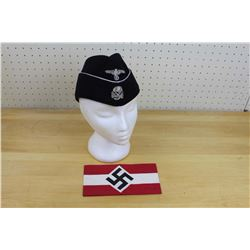Reproduction Nazi Armband and A Cap