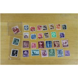 Lot of WW2 German and Occupied Postal Stamps
