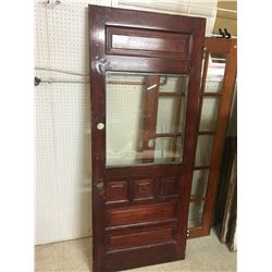 "Antique Door w/Window (33.5"" x 81.5"")"