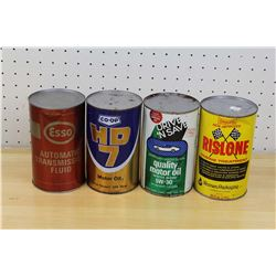 FULL One Quart Oil Cans (4)