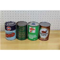 FULL One Litre Oil Cans (4)
