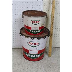 Co-op Grease Pails (2)(10lbs& 25lbs)