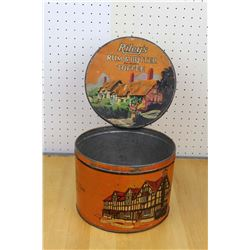 Riley's Toffee Store Display Advertising Tin