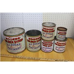 Lot of Different Roger's Syrup Tins (6)