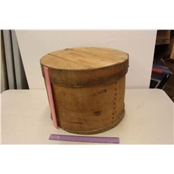 Antique Wood Cheese Circular Box