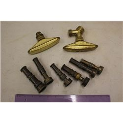 Vintage Brass Watering Hose Nozzles (8)