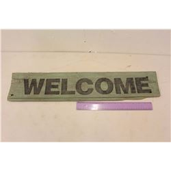 "Hanging ""Welcome"" Barn Board Sign"