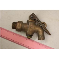 Antique Steam Engine Brass Drain Cock