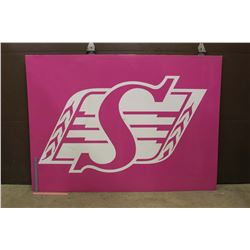 "2017 Saskatchewan Roughriders Sideline Advertising Sign (5ft 7""x 4ft)"