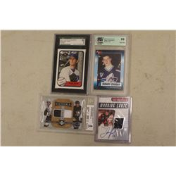 Hockey Cards (3) & A Baseball Card