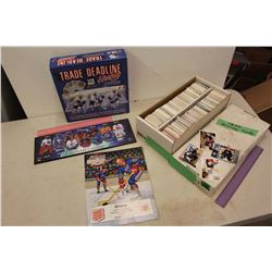 Lot of NHL Related (Hockey Cards, Board Game, Autographed Magazine, Etc)