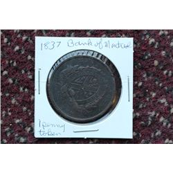 1837 Bank of Montreal 1 Cent Token