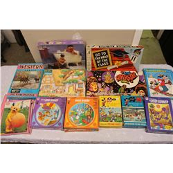 Lot of Vintage Children Puzzles & Board Games