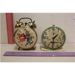 2 Vintage Alarm Clocks (Kellogg Dig 'Em & Early Bird)