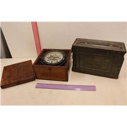 Reeves U.S Ammunition Box & A Vintage Compass