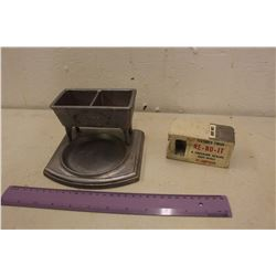 Salesman Samples: Grover Lite Double Wash Tub & A Cement Block w/Paper Label