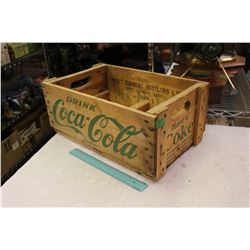 Drink Coca-Cola Wooden Crate, Swift Current Bottlers, Sask