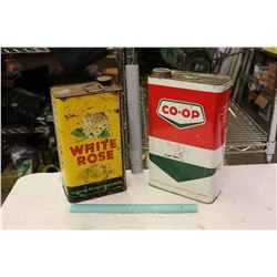 White Rose And Co-op 1 Gallon Tins