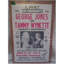 Live George Jones And Tammy Wynette Poster, 1973
