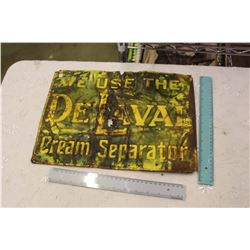 We Use The DeLaval Cream Separator Sign