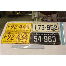 Lot Of 60's Saskatchewan License Plates