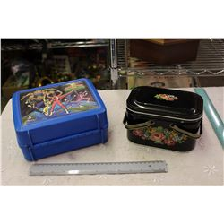 Lot Of Lunch Kits (Plastic Power Rangers And Tin Flower Themed)