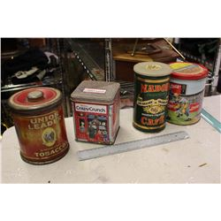 Lot Of Advertising Tins (4)