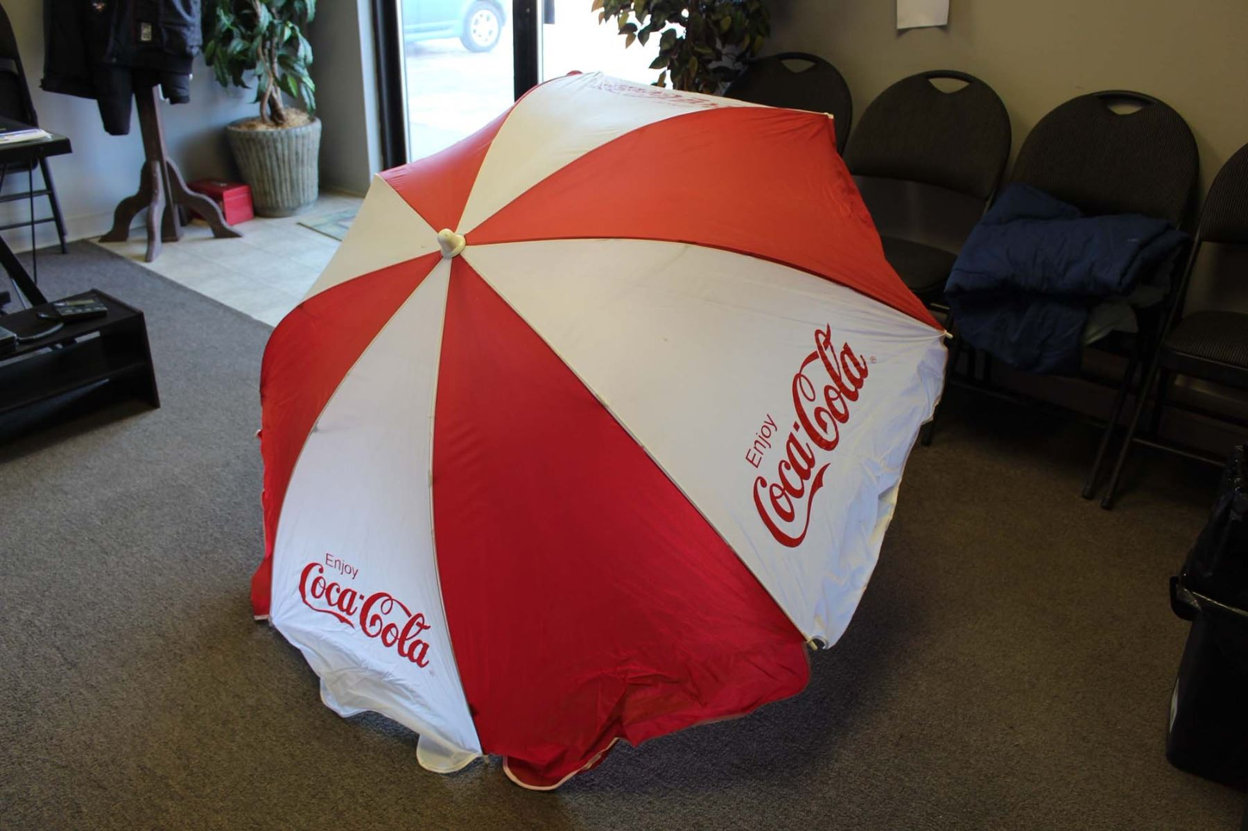 Image 1 Vintage Coca Cola Patio Umbrella