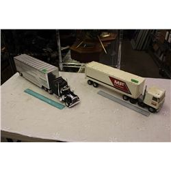 Lot Of Two Semi Trucks And Trailer Toys (Massey Ferguson Is Metal)
