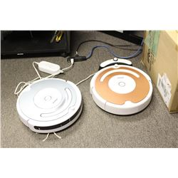 Two IRobot Roombas, Automated Vacuum Cleaner Machines, (Both Need Work)1 Charge Dock