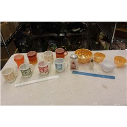 Lot Of Vintage Coffee Cups And Assorted (Lots Of FireKing)