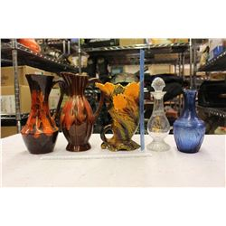 Lot Of Vintage Table Vases