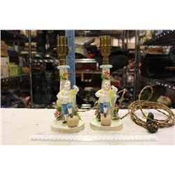 Pair Of Vintage Character Lamps