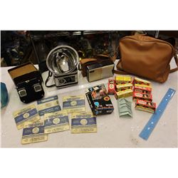 Lot Of Vintage (Transistor Radio, Flash Kodak Camera, Viewmaster W/ Reels