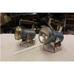Pair Of Vintage Star Headlight and Lantern Company Battery Operated Lanterns