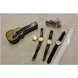 Collection Advertising Wrist And Other Watches, W/ Advertising Misc