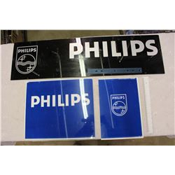 Plastic Philips Signs (3)