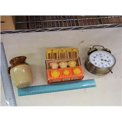 Lot Of Misc. (Bear Soap, Mini Jug, Cosmo Alarm Clock