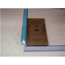 Chevrolet Repair Manual, 1926, Series K And V