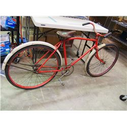 Vintage Red Metal Bike, Brooks, CCM