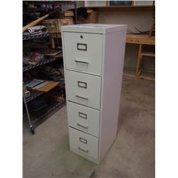 "Four Drawer Metal Filing Cabinet 18""x15""x53"""