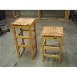 Pair Of Wooden Bar Stools
