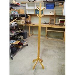 "Wooden Stand, 72"" Tall"